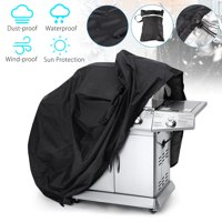 TSV Gas Grill Cover, 57-Inch Black BBQ Cover Waterproof Weather Resistant 600D Gas Grill Cover for Most Brands of Grill