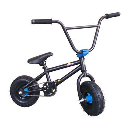 "KOBE Mini BMX Trick Bike - Off-Road to Skate Park, Freestyle, Trick, Stunt Bicycle 10"" Wheels for Adults and Kids - Blue - image 2 de 4"