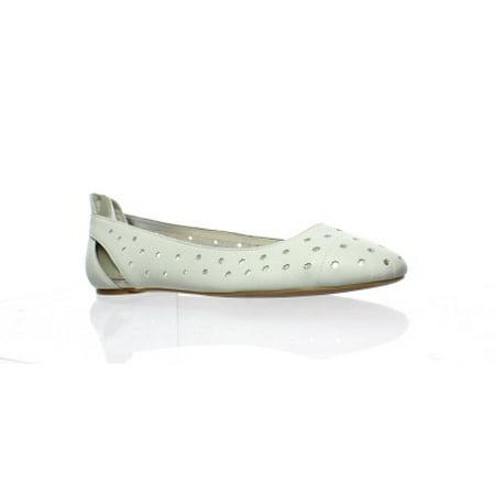 Nine West Cream (Nine West Womens Marie White/Silver Ballet Flats Size 8 (C,D,W) )