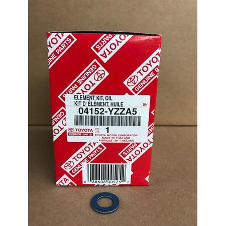 OEM Toyota Oil Filter 04152-YZZA5 & Gasket 90430-12031