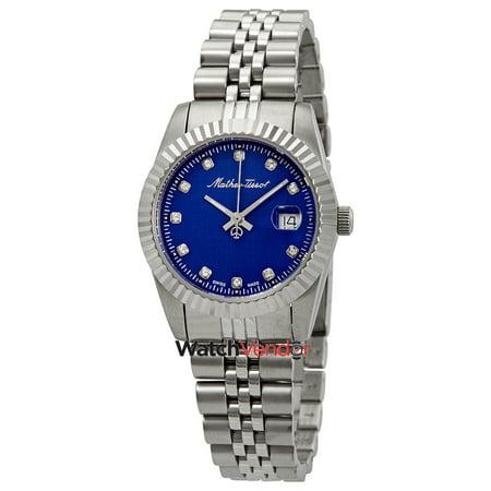 Mathey-Tissot Rolly III Crystal Blue Dial Ladies Watch D810ABU - image 3 de 3