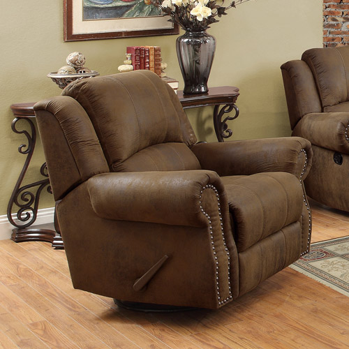 Sir Rawlinson Rocker Recliner With Swivel, Brown