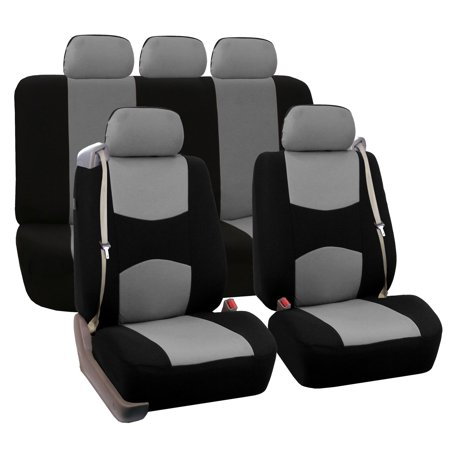 FH Group Full Set for Integrated Seatbelt Car Coupe Sedan SUV Van, Gray ()