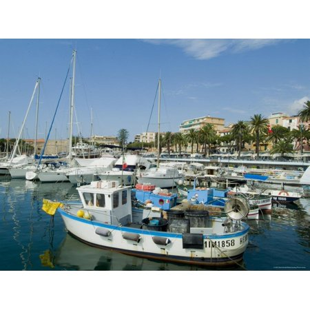 Old Port and Marina, Sanremo (San Remo), Italy, Mediterranean Print Wall Art By Ethel