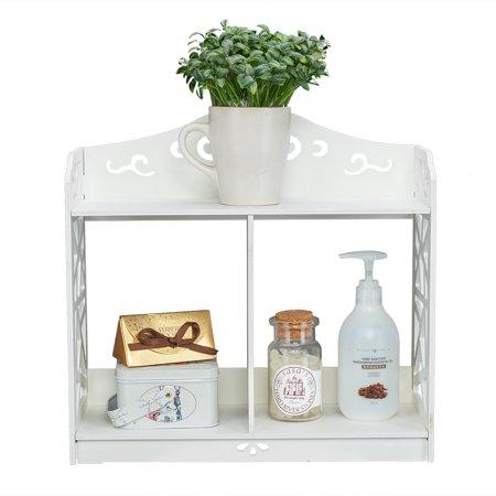 Lightweight Rock - UBesGoo Lightweight Storage Display Rack Wood-plastic Board Wall Shelf Bookshelf Flower Shelf