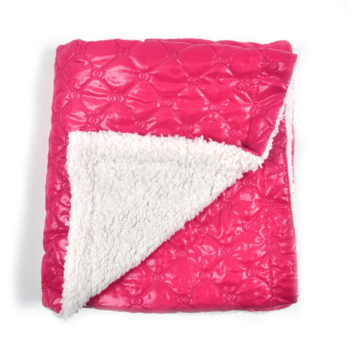 Tadpoles Quilted Nylon Puffer Blanket with Sherpa Backing