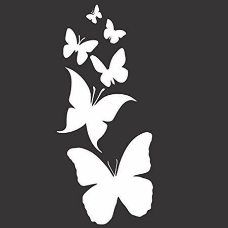 Butterfly Family Vinyl Cut Decal With No Background |7 Inch White Decal | Car Truck Van Wall Laptop Cup