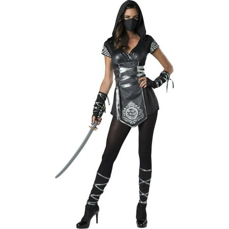 Ninja Warrioress Women's Halloween Costume](Women Ninja Costume)