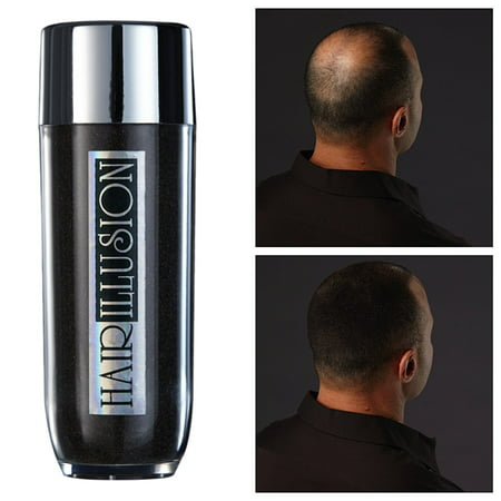 Hair Fibers - Not Synthetic - For Hair loss  Men & Women, Premium Hair Building Formulation Hair illusion (Black)