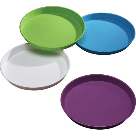 Arrow Plastics 0520023 Tray Serving Round, Assrote Color - Case of 12 (Round Serving Trays)