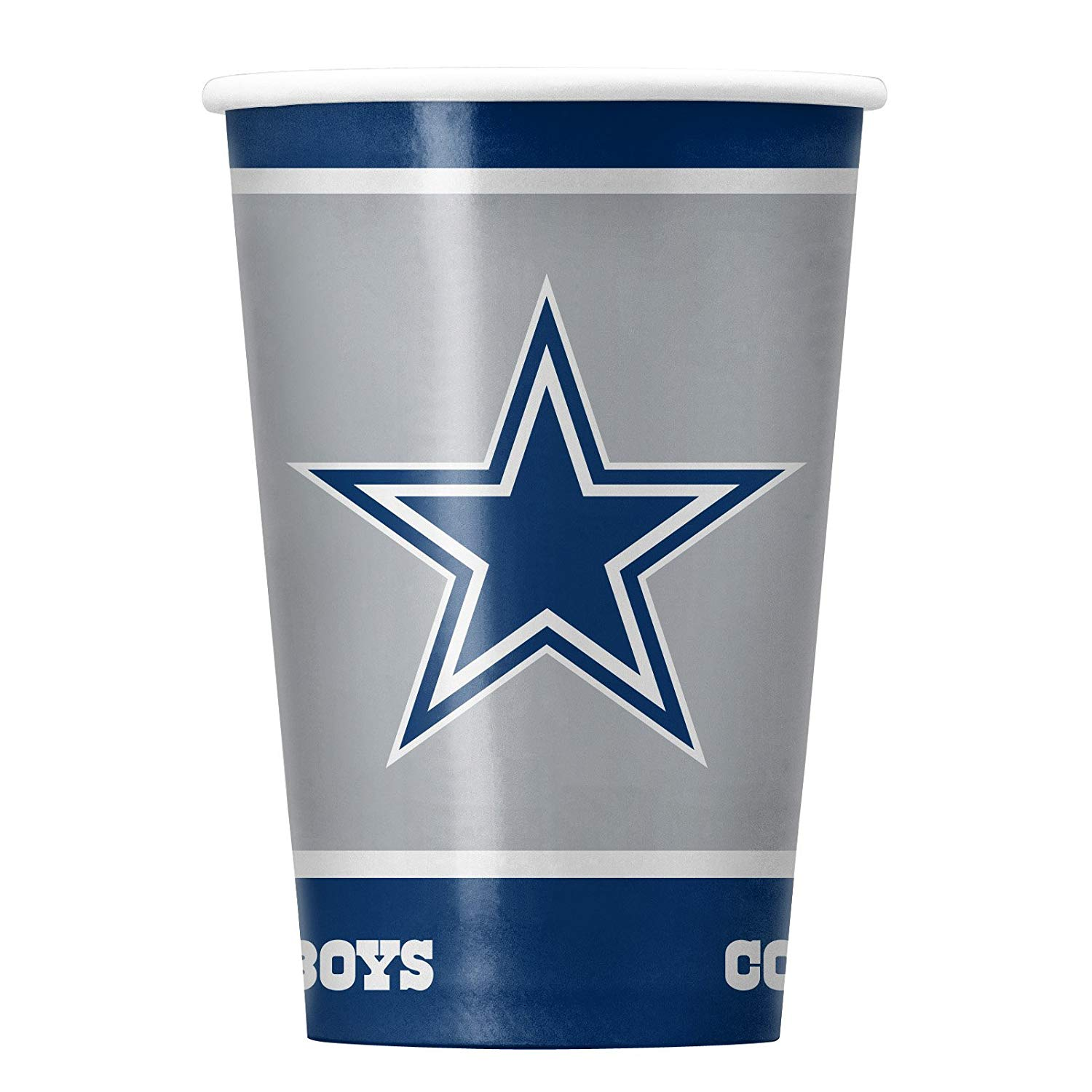 NFL Dallas Cowboys Disposable Paper Cups, Pack of 20, 14 ounce disposable paper cups, pack of 20 By Duck House
