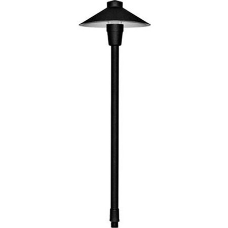 Dabmar Lighting LV13-B 20W 12V JC Shape Small Top Cast Aluminum Path Light, Black - 22.38 x 7.03 x 7.03 in.