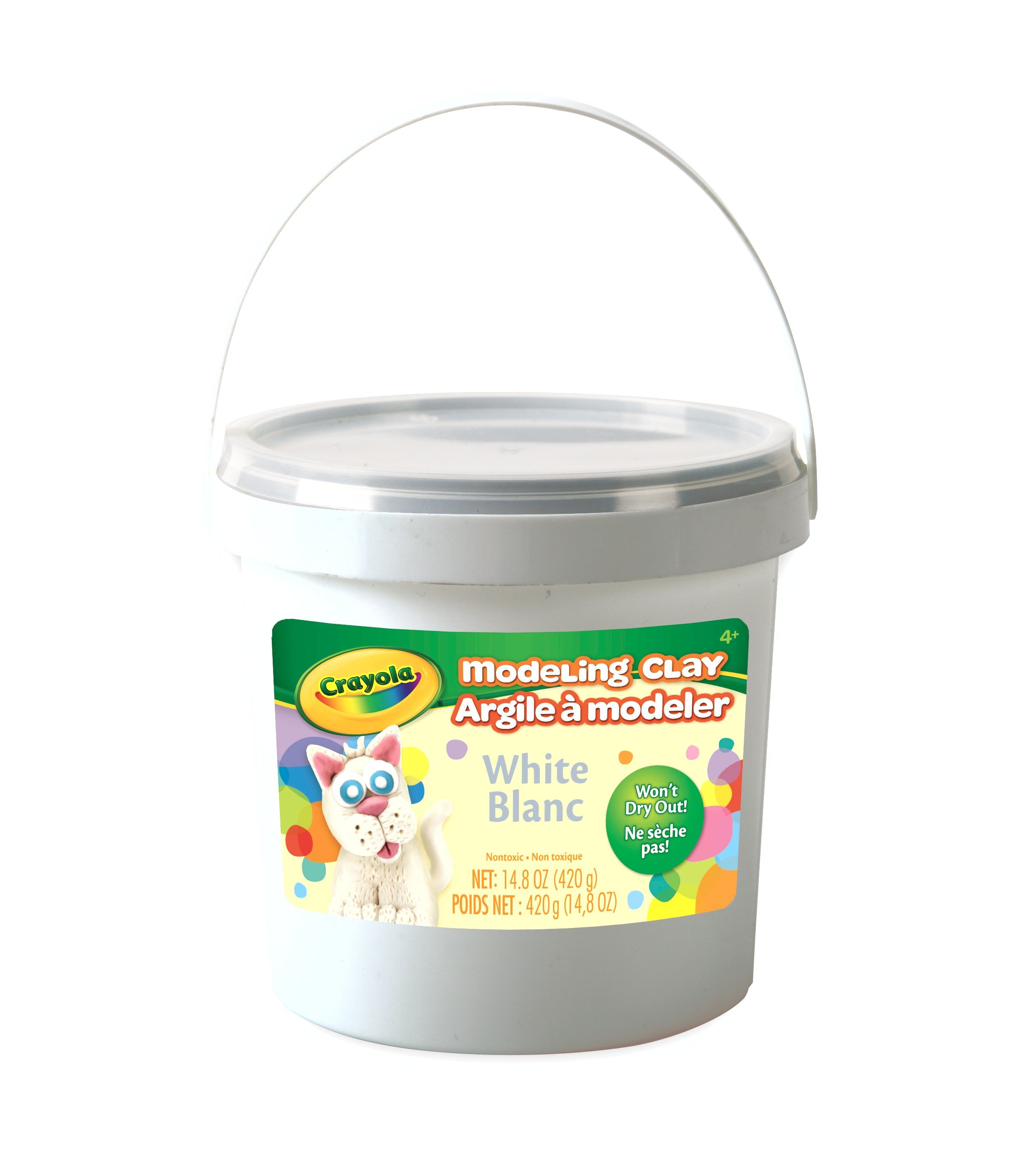 Crayola White Modeling Clay Bucket, Modeling Clay for Kids, 15 Ounces by Crayola