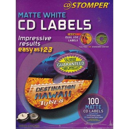 CD Stomper Matte White CD Labels Cd Stomper Label Software