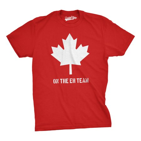 Crazy Dog TShirts - Mens On The Eh Team Canada T Shirt Funny Patriotic Novelty SarcasmTee For