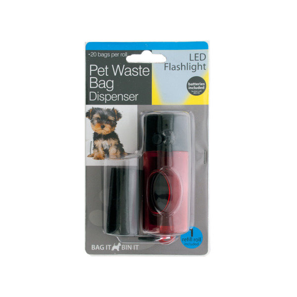Pet Waste Bag Dispenser LED Flashlight