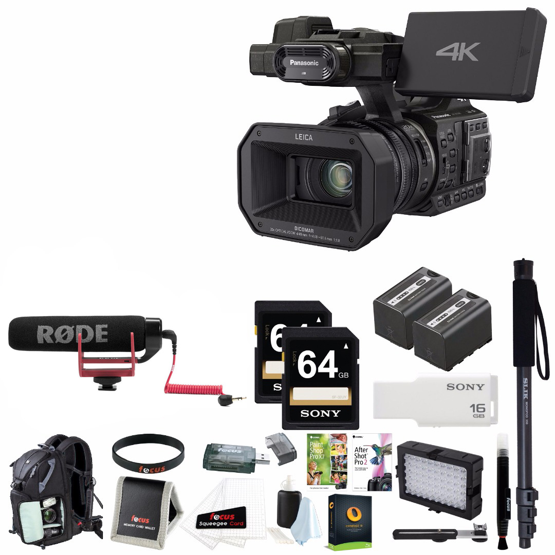 Panasonic HC-X1000 4K Ultra HD Pro Camcorder w/ Backpack ...