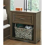 My Home Furnishings Logan- Driftwood 1301-601 1- Drawer Nightstand