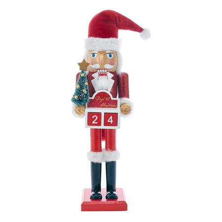 Kurt S. Adler 15 in. Wooden Santa Advent Calendar -