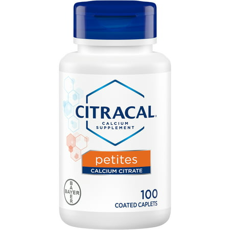 Citracal Petites, Calcium and Vitamin D3 Supplement to Support Bone Health*, 100 Easy-to-Take (Best Time Of Day To Take Calcium Supplement)