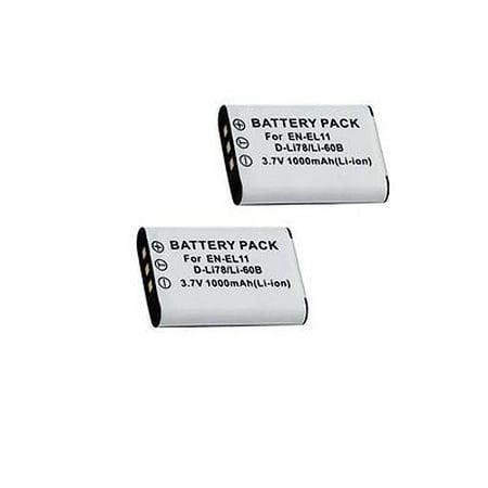 TWO 2 Batteries LI-60B LI60 for Olympus FE-370, Olympus X-880, Olympus C-575 Digital (Olympus Fe)