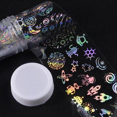 Tuscom Major Design Nail Art Foil Stickers Transfer Decal Tips Manicure DIY](Halloween Manicure Designs)
