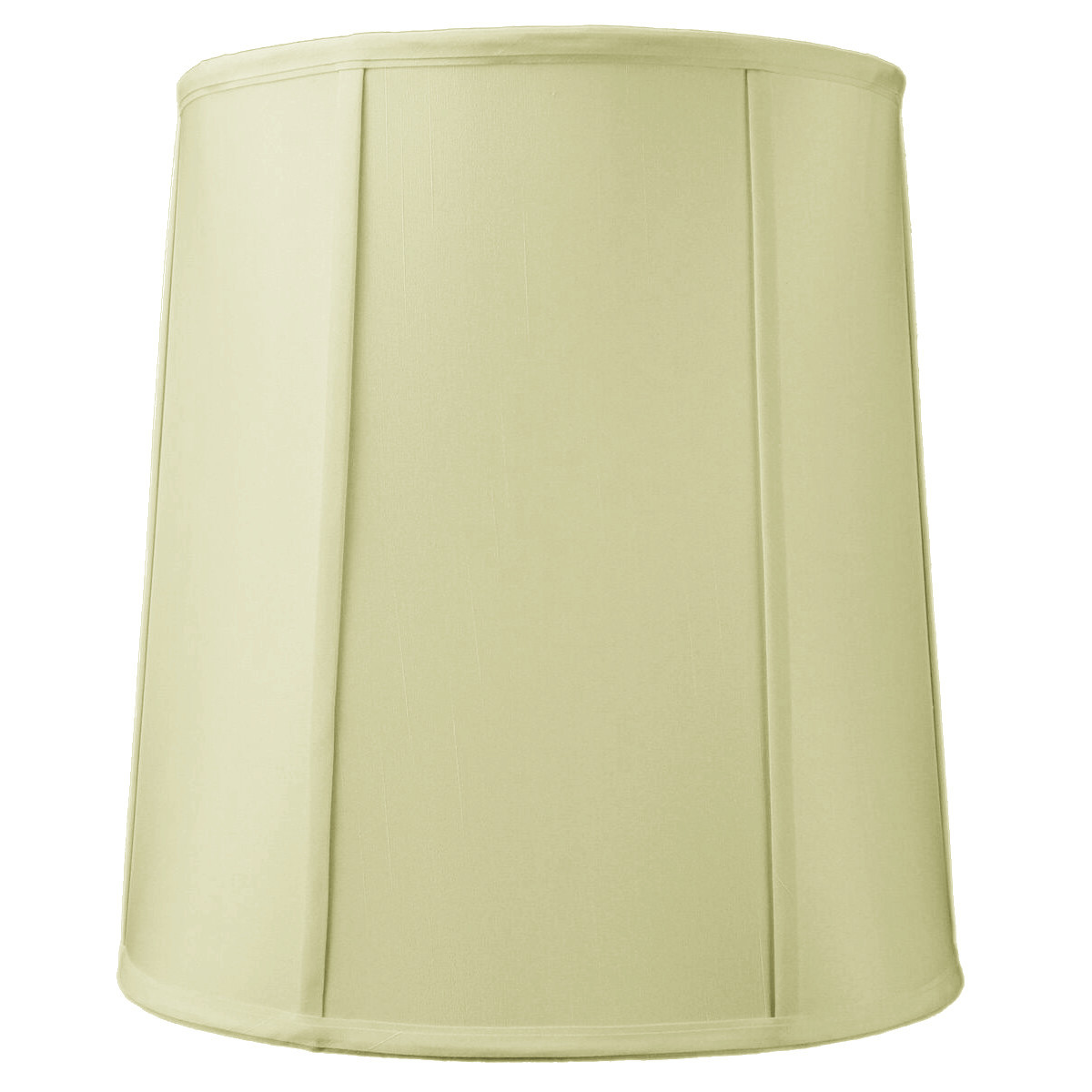 12x14x15 Drum Lampshade with Piping Eggshell by Home Concept Inc