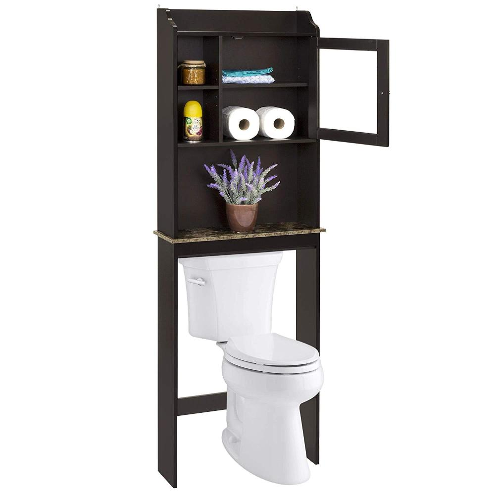 modern over the toilet space saver organization wood