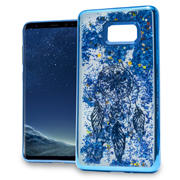 Blue Dreamcatcher Motion Glitter Chrome Case For Samsung Galaxy S8 Phone