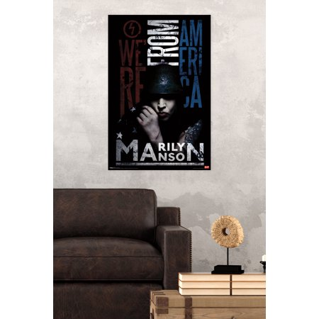 Trends International Marilyn Manson From America Wall Poster 22.375