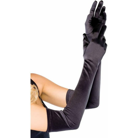 Leg Avenue Extra-Long Satin Gloves Adult Halloween Accessory](Halloween Crafts Gloves Latex Plastic)
