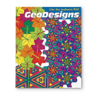 Geodesigns coloring book., By MindWare Ship from US