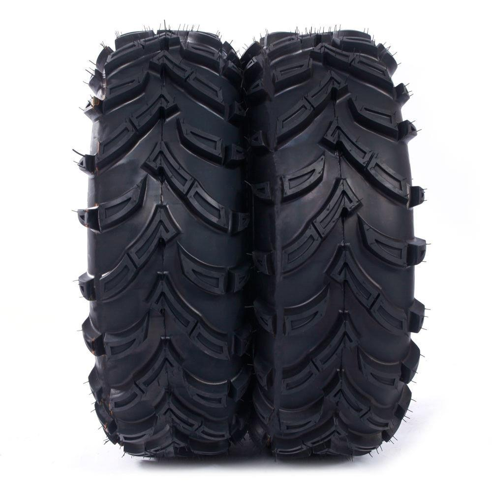 Ktaxon Set ATV Tires 26x9-14 Front Left Right Rubber Black 26-9-14 tread depth :17