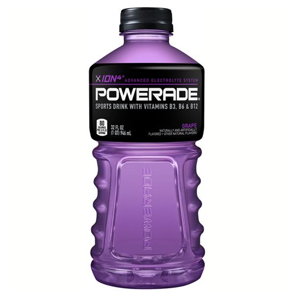 Powerade Grape Sports Drink 32 oz Plastic Bottles - Pack ...