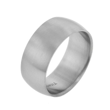 - 10mm Wide Mens Titanium Brushed Satin Wedding Band Ring