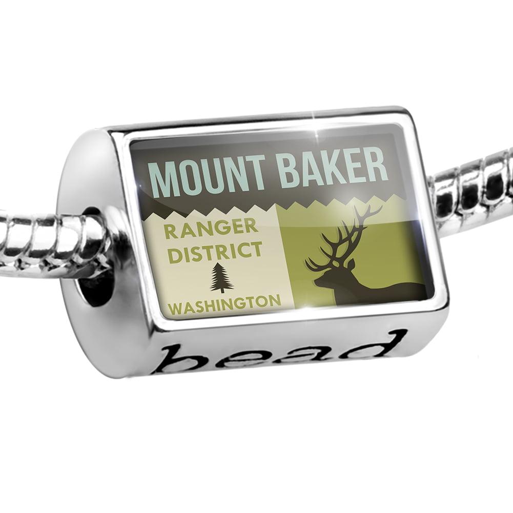 Bead National US Forest Mount Baker Ranger District Charm Fits All European Bracelets