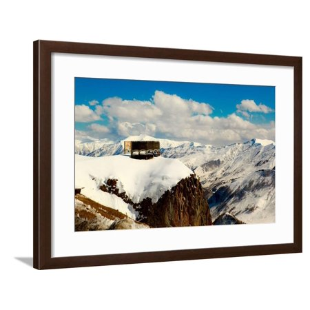 Peace Monument, Caucasus Mountains, Border of Russia and Georgia, Central Asia, Asia Framed Print Wall Art By Laura - Georgian Border