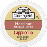 Grove Square Hazelnut Cappucino Coffee Pods, 24 Count for Keurig K-Cup Brewers