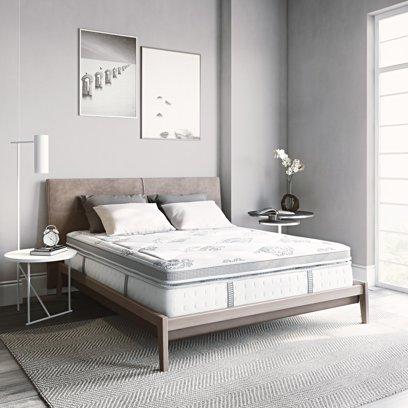 Modern Sleep Gramercy Euro-Top 14″ Cool Gel Memory Foam and Innerspring Hybrid Mattress