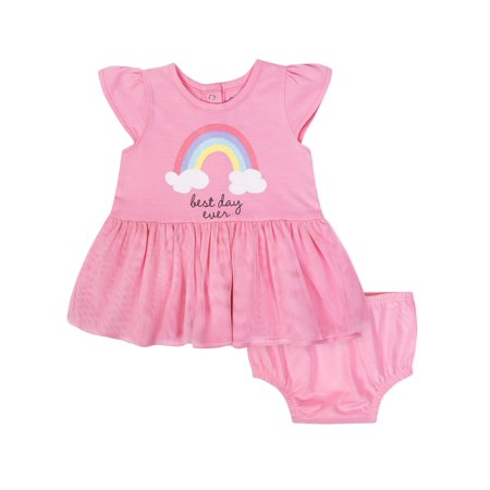 Girls Dress Sale (Tulle Dress and Diaper Cover Outfit Set, 2pc (Baby)