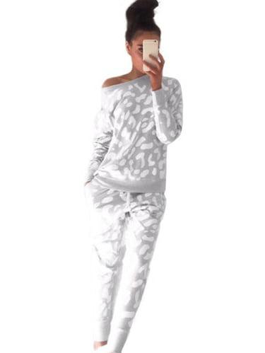 Women/'s 2Pcs Tracksuit Hoodies Sweatshirt+Pants Sets Sport Wear Jogging Suit Gym