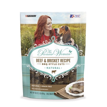 The Pioneer Woman Grain Free, Natural Dog Treats, Beef & Brisket Recipe BBQ Style Cuts - 16 oz. Pouch - Natural Balance Beef Treats