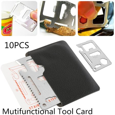 10PCS Multifunctional Tool Card Muti Function In 1 with Cover Survival Card Knife thumbnail