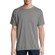 Hanes Men's and Big Men's ComfortWash Short Sleeve Pocket Tee, Up To Size 3XL