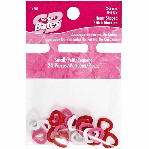Heart Shape Stitch Markers, 24pk