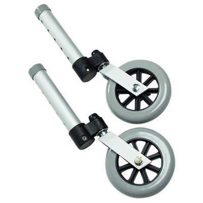 "Lumex 603830A Swivel Walker Wheel, 3"" Diameter, Aluminum (Pack of 2)"