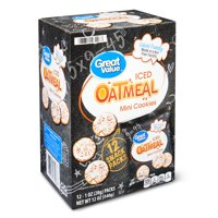 Great Value Iced Oatmeal Mini Cookies, 12 oz, 12 Count