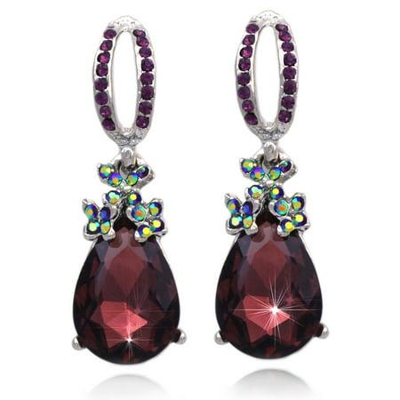 Coco Jewelry Cocojewelry Dangle Plum Purple Teardrop Stud Post Earrings Prom Pageant