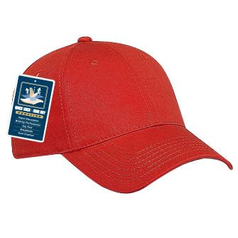 OTTO Cool Comfort Superior Cotton Twill 6 Panel Low Profile Baseball Cap - Red