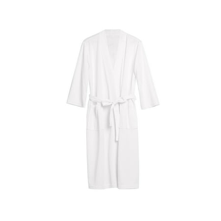 Uarter Men Women Robe Waffle Weave Bathrobe Couple Bath Robes Practical Night-robe for Spring and Summer, White, XL (Jedi Robes For Sale)